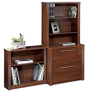 Embassy Lateral File and Bookcase Set Tuscany Brown