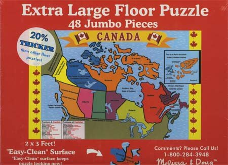 Melissa & Doug Canada Map Floor (48 pc)