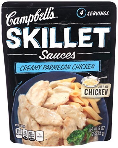 Campbell's Skillet Sauces, Creamy Parmesan Chicken, 11 Ounce (Pack of 6)