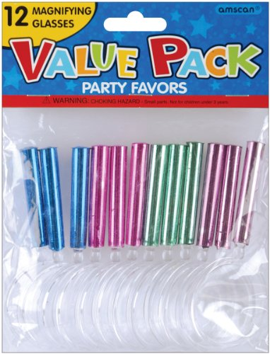 AMSCAN Party Favor 12-Pack: Magnifying Glass