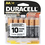 Duracell Coppertop AA Cell Alkaline Batteries in Reclosable Storage 12 Pack