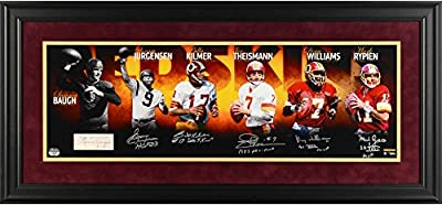 "Washington Redskins Framed Autographed Quarterback Legends 10"" x 30"" Redskins Photograph - Fanatics Authentic Certified"