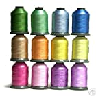 12 Large Spools EASTER Embroidery Machine Thread