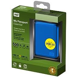 Western Digital WDBACY5000ABL My Passport Essential 500GB externe Festplatte (6,4 cm (2,5 Zoll) USB 3.0) blau ab 69,- Euro inkl. Versand