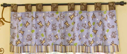 CoCo & Company Monkey Time Window Valance (Discontinued by Manufacturer)