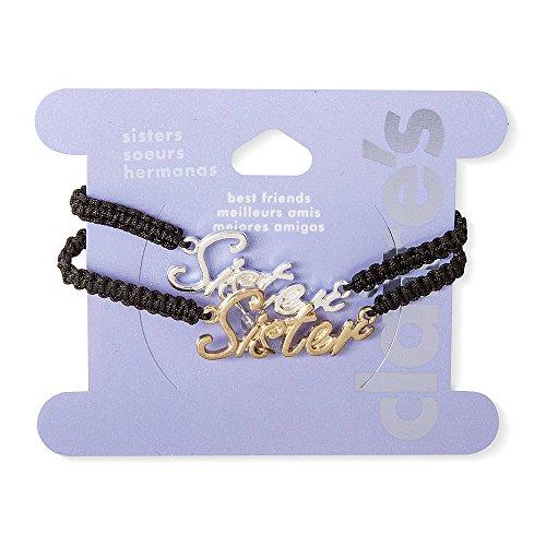 Claire'S Accessories Girls Sisters Macramé Bracelets