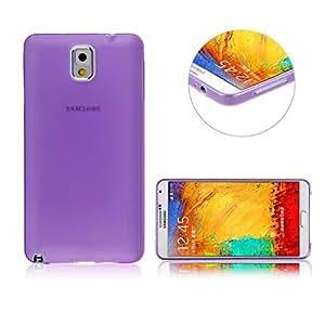 Purple 0.3mm Slim Thin Clear Case Cover Skin for Samsung Galaxy Note 3 III N9000 N9005