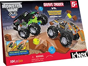 K'NEX Monster Jam Grave Digger versus Maximum Destruction Set