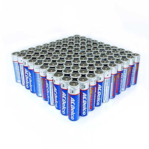 Acdelco Aa Super Alkaline Batteries 100 Count Electronics