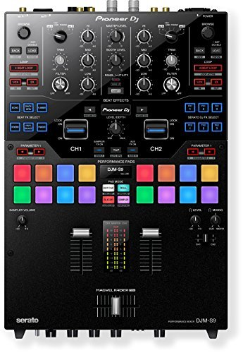 New Pioneer DJM-S9 Two-Channel DJ Battle Mixer for Serato DJ (Black)