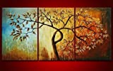 3 Piece Canvas Art Modern Art 100% Hand Painted Oil Painting on Canvas Wall Art Deco Home Decoration (Unstretch No Frame)