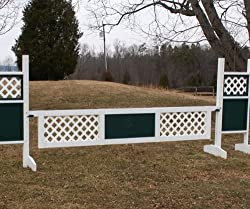 2 Panel Outside Lattice Gate Wood Horse Jumps 12ft