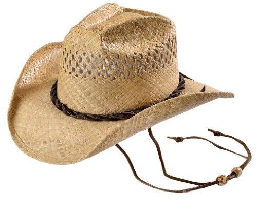 cdef581edc9ef Shady Brady Men s Jon Bon Jovi Straw Cowboy Hat Natural Medium