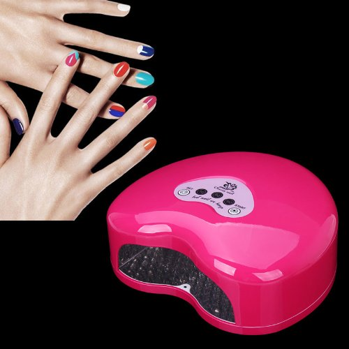Storm Store Lk-E12W 12W Timer Led Uv Nail Dryer Light/Lamp Nail Polish Dryer For Gelish Nail Gel Polish Curing Nail Dryer (Rose)