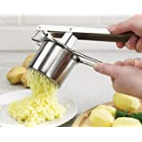 STAINLESS STEEL POTATO RICER HANDHELD PUREE MASHER & BABY FOOD MASHER WITH 3 DISC'S