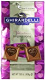 Ghirardelli Limited Edition Valentines Impressions Squares Milk & Dark Chocolate,  7.33 Ounce