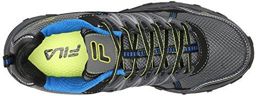 Fila Men's AT Tractile Running Shoe, Castlerock/Black/Lemon Punch, 13 M US