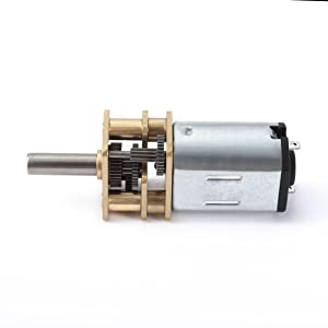 uxcell DC 12V 1000RPM Micro Speed Reduction Motor Mini Gear Box with 2 Terminals for RC Car Robot Model DIY Engine Toy (Tamaño: 1000RPM)