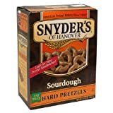 Snyders of Hanover Hard Sourdough Hard Pretzels, 13.5-Ounce Box (Pack of 12)