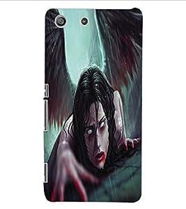 ColourCraft Dark Angel Design Back Case Cover for SONY XPERIA M5 E5603 / E5606 / E5653