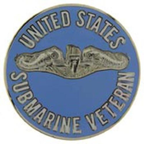 U.S. Navy Submarine Veteran Pin 1 1/2