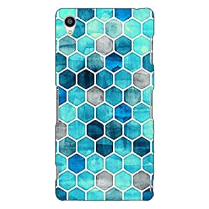 Jugaaduu Blue Hexagons Pattern Back Cover Case For Sony Xperia Z3
