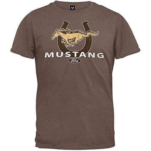 Ford - Mustang Horseshoe Logo Soft T-Shirt - Large