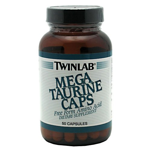 Twinlab Mega Taurine, 50 Caps (Multi-Pack)