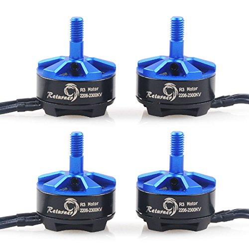 Crazepony 4pcs Brother Hobby Retuner 2206 2300KV Brushless Motor for QAV250 FPV Racing Quadcopter