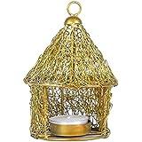 APKAMART Handicraft Votive Candle Holder - Hut Design - 5.5 Inch - Decorative Tea Light Candle Stand For Table...