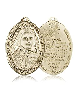 14kt Gold St. Therese Medal