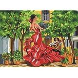 Reeves - 13160 - Peinture Par Numeros 30x40 Cm Flamenco