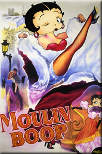 Licenses Products Betty Boop Moulin Magnet