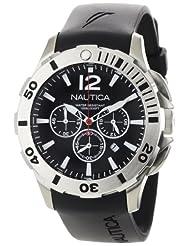 Nautica N16564G Black Resin Watch