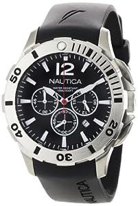 Nautica Men's N16564G BFD 101 Black Resin and Black Dial Watch
