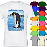 King Emperor Penguin Kids Boy Girl Cotton Short Sleeve T-Shirt - Sizes 1 Year Old - 14 Year Old