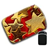 Golden Gold Stars on Deep Red Background For Amazon Kindle Fire & Kindle 3G Keyboard Soft Protection Neoprene Case Cover Sleeve Bag With Pocket which is Ideal for Headphones, Data Cable etc