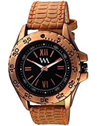 Watch Me Analog White Black Brown Leather Brown Watch For Boys WML-252