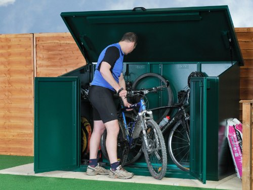 As recommended by the UK Locksmiths Association Bike storage sheds are ideal for secure and convenient storage of bicycles. The Cedarshed UK Rancher storage ... & Wooden garden shed kits ontario cycle storage shed metal shed ...