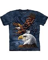 The Mountain 100% Cotton Star Spangled Flight T-Shirt