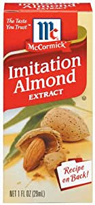 McCormick Almond Extract, Imitation, 1-Ounce Units (Pack of 6)