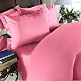 Elegance Linen 1500 Thread Count Wrinkle Resistant Ultra Soft Luxurious Egyptian Quality 3-Piece Duvet Cover Set, Full/Queen, Light Pink