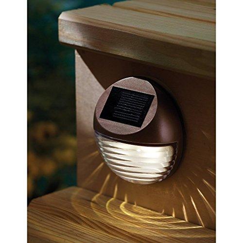 Solarize ® - Set di 4 lampade decorative da giardino, a energia solare, senza fili, impermeabili, lampade da esterni per recinzioni, pali, pareti e ingresso