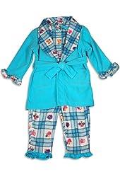 Baby Buns - Baby Girls 3 Piece Robe and Pajama Set