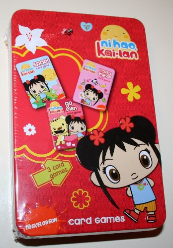 Nickelodeon Ni hao Kai-lan 3 Card Games in Tin