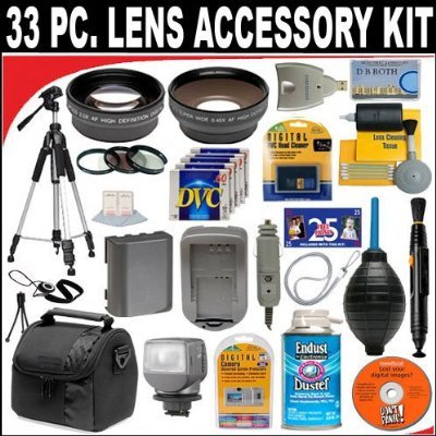 Dbroth 33 Pc Ultimate Monster Super Savings Deluxe Db Roth Accessory Kit Includes Lenses Filters Video Light Accessories And Much Morefor The Jvc Gr-d