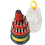 31 Piece Precision Tools - Screwdriver Set - Phillips Flat Hex and Star Tips with Storage Box