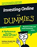 Investing Online For Dummies (For Dummies (Lifestyles Paperback)) (0764584561) by Kathleen Sindell