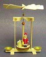 Santa and Train German Christmas Pyramid by Pinnacle Peak