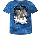 Sonata Arctica - Wolf Tye Dye Adult T-Shirt In Blue